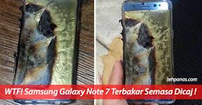 Thumbnail image for (Gambar) Samsung Galaxy Note 7 Terbakar Semasa Dicaj