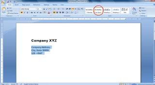 k কিভাবে Business Letterhead WORD 2007 এবং 2010 এ তৈরী করা যায়? | Techtunes কিভাবে Business Letterhead WORD 2007 এবং 2010 এ তৈরী করা যায়