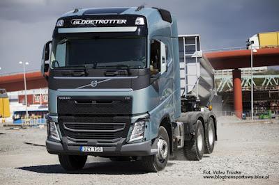 Volvo FH, podnoszona druga oś napędowa