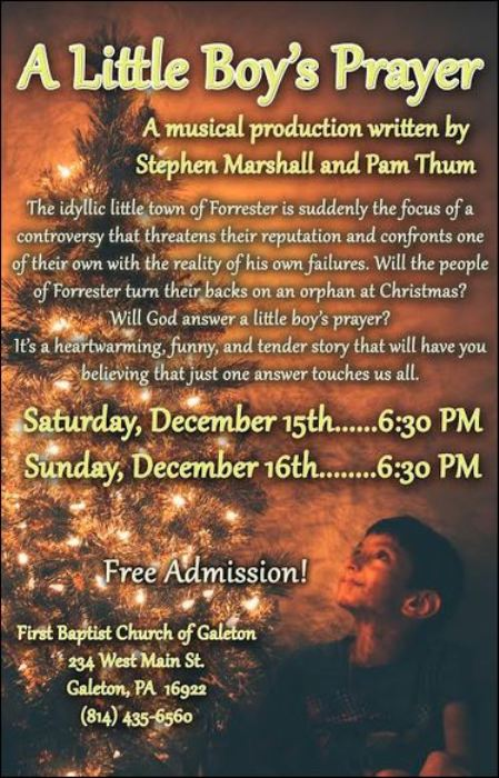 12-16 Free Musical, Galeton