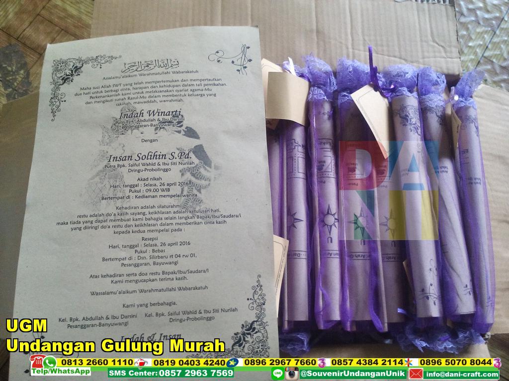 Undangan Gulung Murah (UGM) Undangan Pernikahan Murah ...