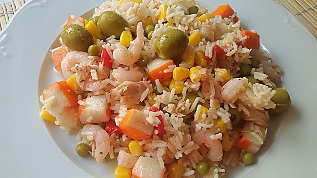 Ensalada de arroz salteado