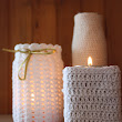 Crocheted Candle holders // Хеклани држачи за свеќи