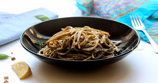 Whole Wheat Spaghetti With Avocado Basil Pesto Recipe