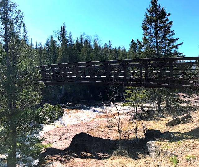 Bridges help cross the Gooseberry River.