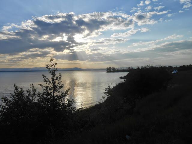 Вечернее небо над Иртяшем
