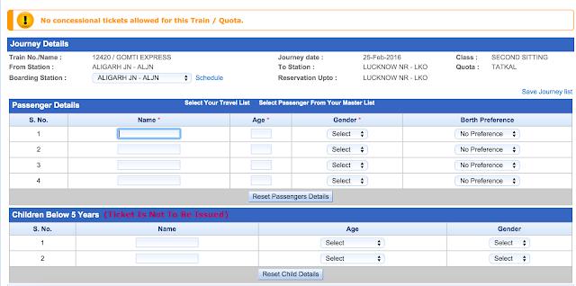 Journey Details for ticket