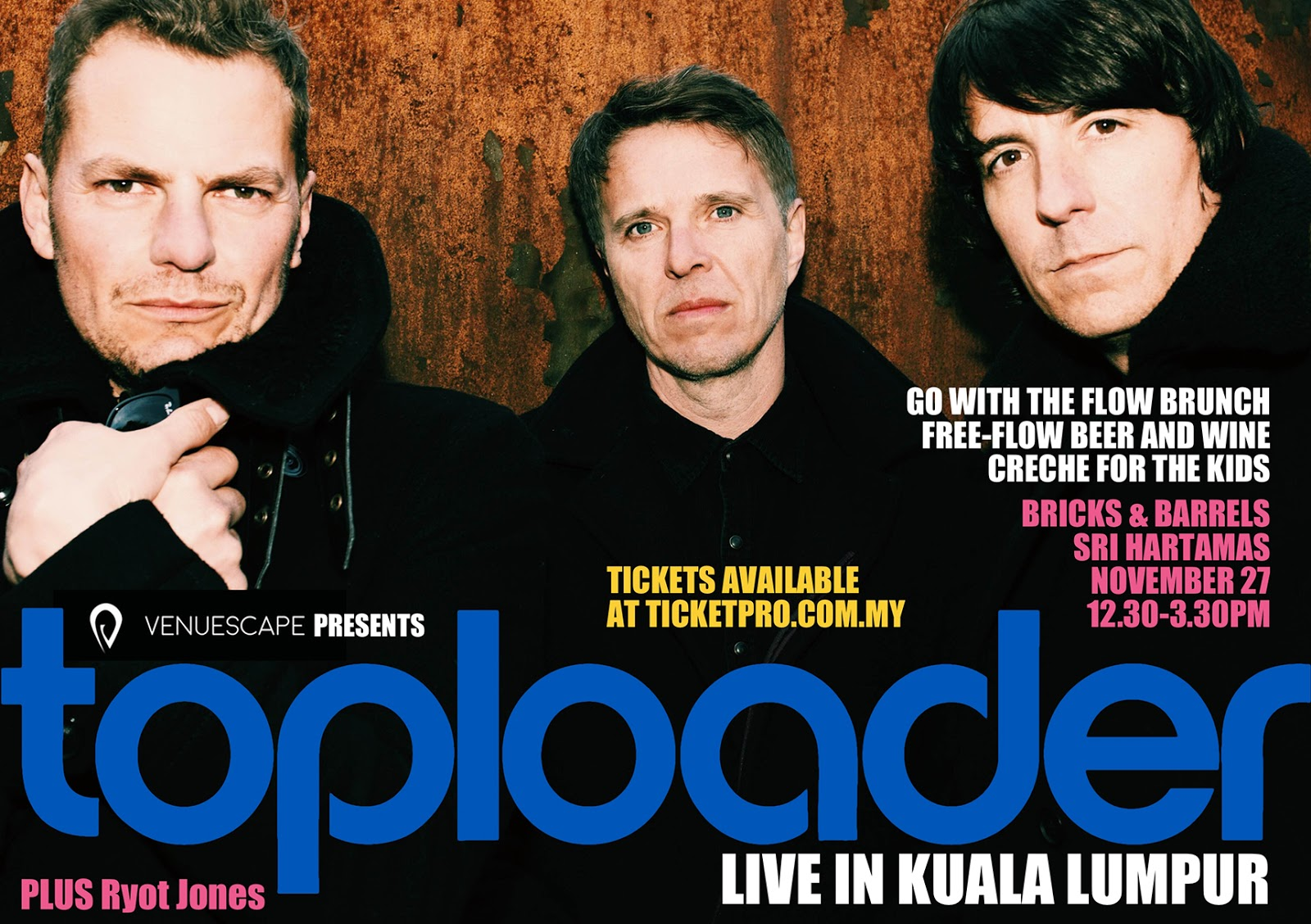 Have loads of fun with British band Toploader - TheHive Asia