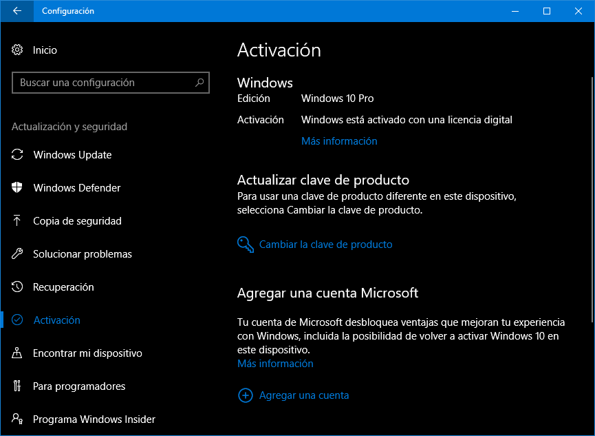 como activar la licencia de windows 10 home
