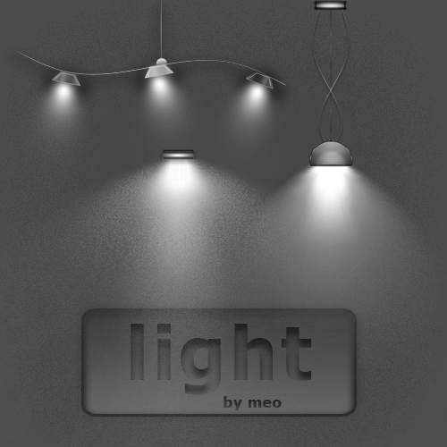 ملف بصيغة psd سبوتات وإضاءات للتصميم