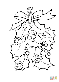 It is an image of Simplicity Mistletoe Coloring Page
