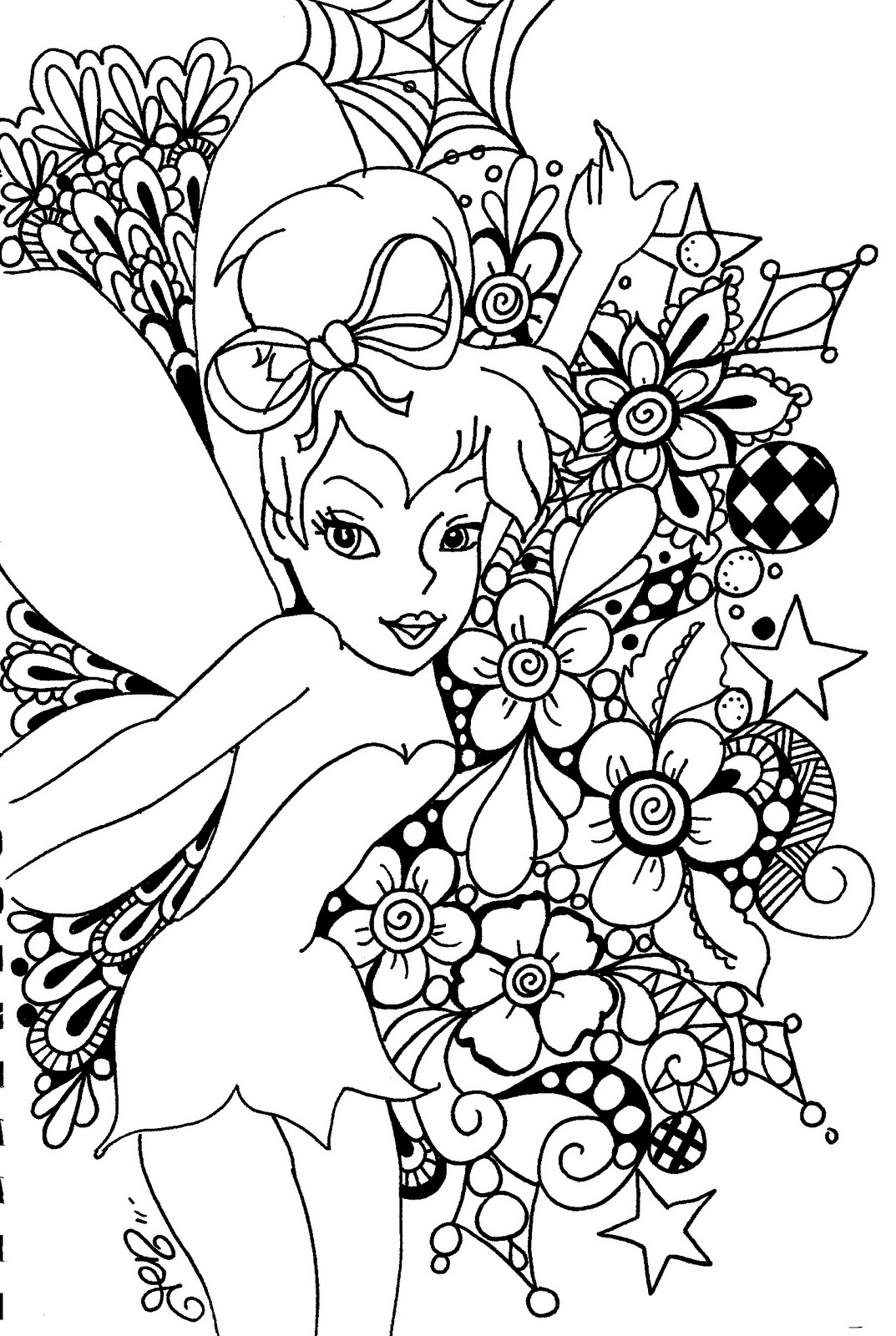 fairy coloring pages. Black Bedroom Furniture Sets. Home Design Ideas
