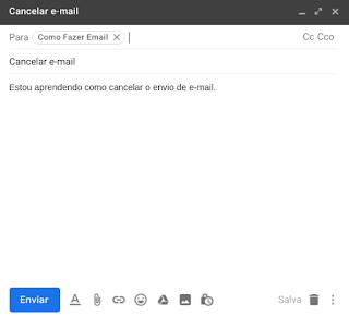 Como desfazer um e-mail enviado
