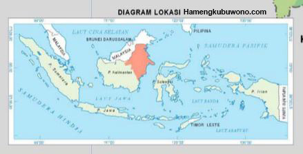 east kalimantan located on a map, letak kalimantan dalam peta Indonesia