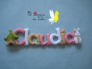 nombre-fieltro-Claudia-felt-feltro-name-banner-regalo-personalizado-elbosquedelulu-nacimiento-hechoamanoparati