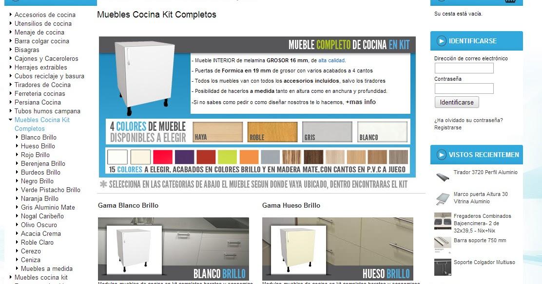 FORMAS ALMACEN DE COCINAS: Nueva sección de muebles de cocina en kit ...