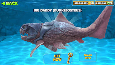 cara mendapatkan big daddy di hungry shark evolution