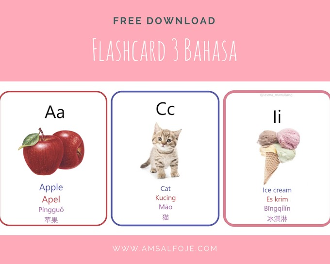 [Free Download] Flash Card Print 3 Bahasa