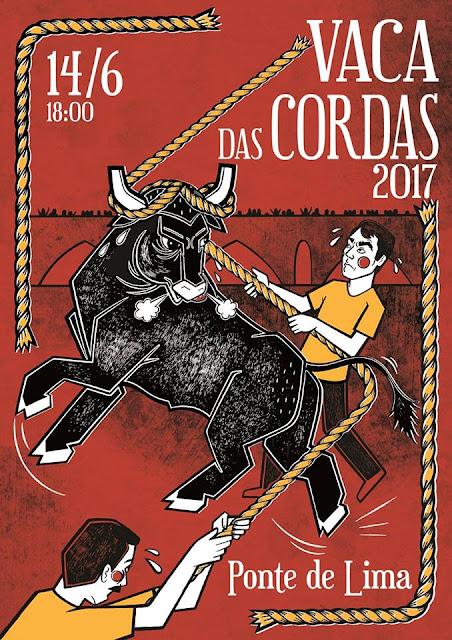 Imagem do Cartaz da Vaca das Cordas 2017 em Ponte de Lima