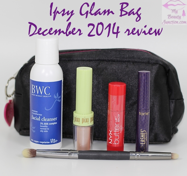 Ipsy Glam Bag December 2014 review, unboxing