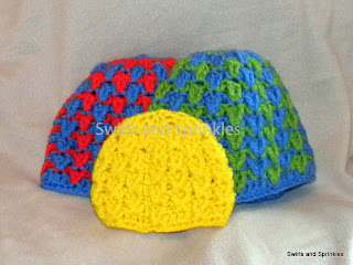 Swirls and Sprinkles: Fun crochet hat Pattern by Hooked in Yarn