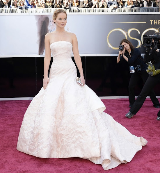 Jennifer Lawrence wore Christian Dior Gown – 2013 Oscars