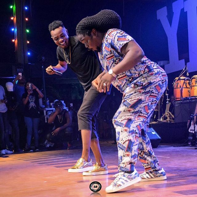 Photos: Patoranking And Daddy Showkey Dancing On Stage