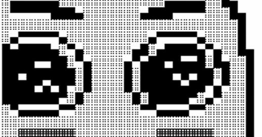 Amazed Face Meme ASCIl Art Picture | Cool ASCII Text Art 4 U