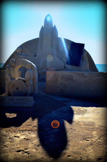 International Sand Sculpting Contest, Revere Beach, Massachusetts, shadow
