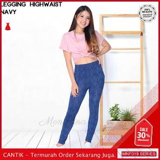 MNF019C163 Celana Highwaist Wanita Legging Celana terbaru 2019 BMGShop
