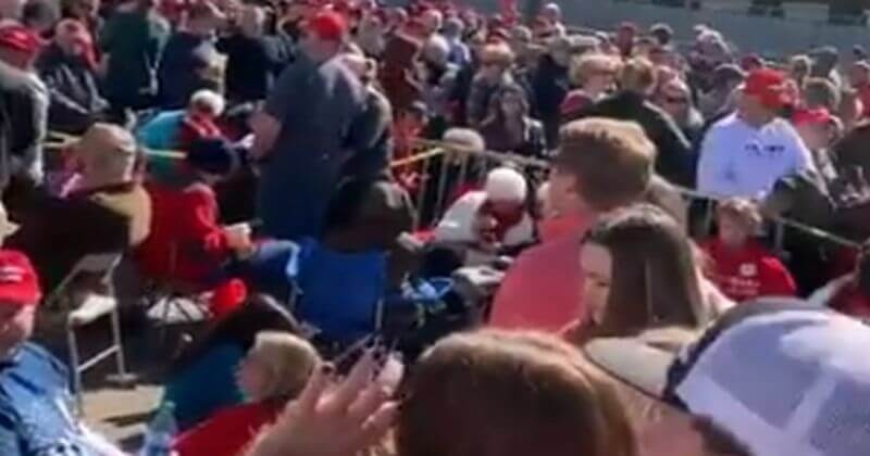 Image result for People Pouring Into Mississippi Trump Rally Hours Ahead of Time, Parking Lot is Packed