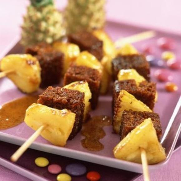 Brochettes Ananas Pain D'Épices