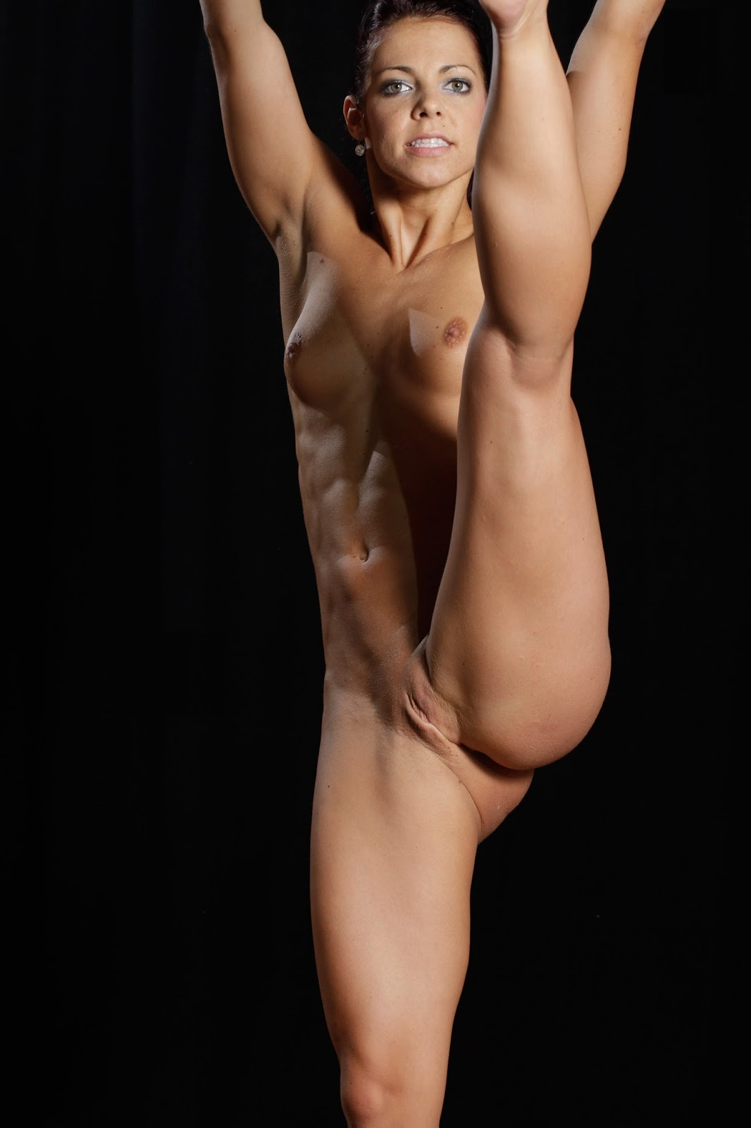 Nude Female Gymnast