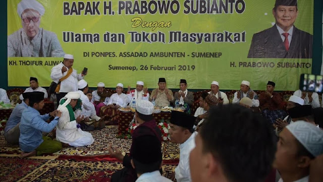 Ulama di Sumenep Siap Menangkan Prabowo-Sandi di Pilpres