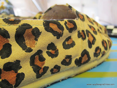 hand painted animal print shoes
