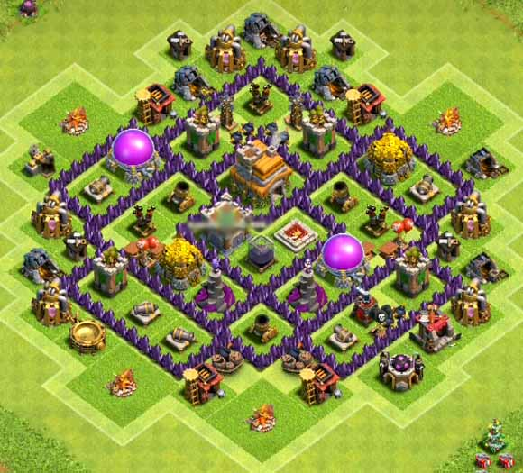town hall 7 base for farming