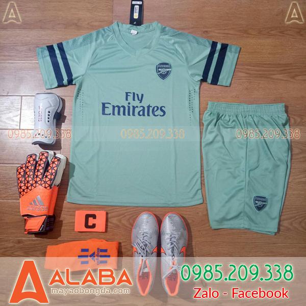 Áo CLB Arsenal 2019 màu xanh rêu