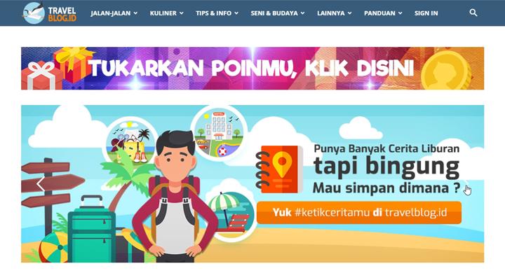 Fitur - Fitur Website TravelBlog.id - Halaman Utama