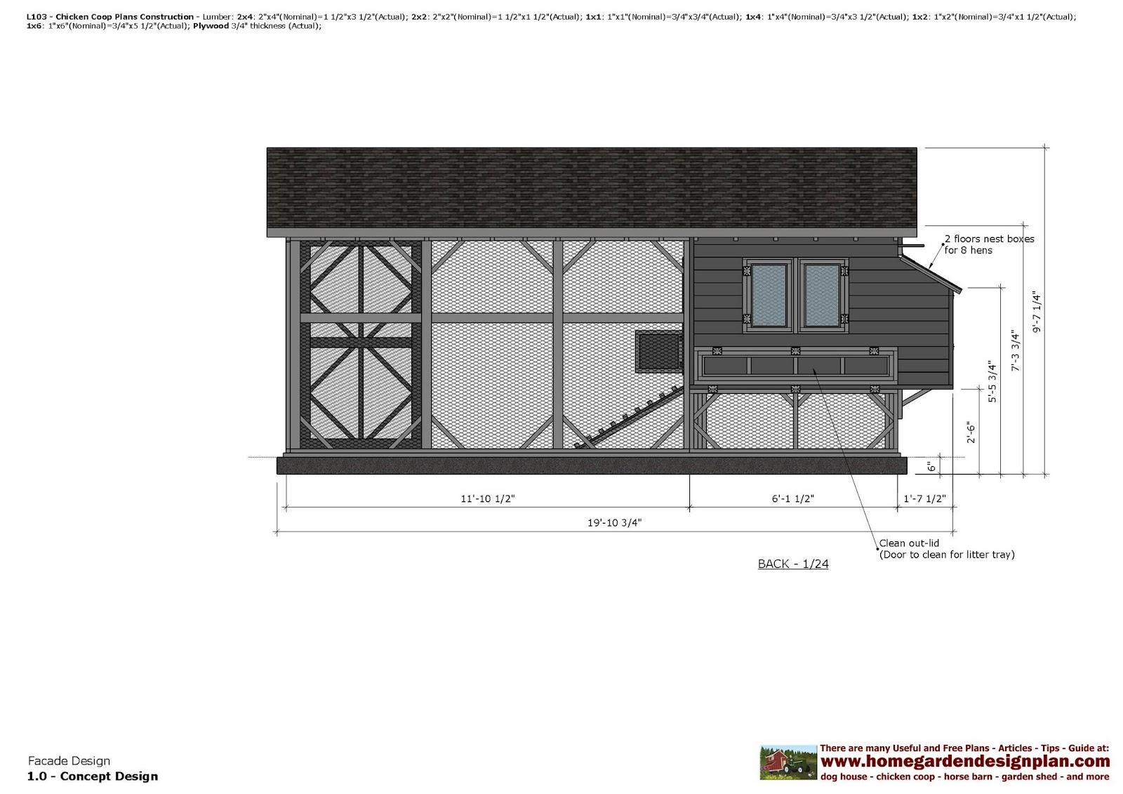 Home Garden Plans L103 Chicken Coop Plans Chicken