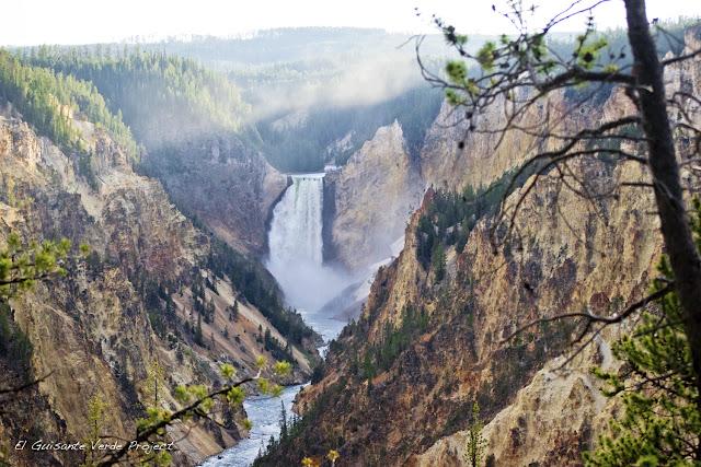 Lower Falls en el Gran Cañón de Yellowstone, por El Guisante Verde Project