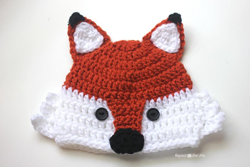 Crochet Fox Hat - Repeat Crafter Me 2d2bc088203