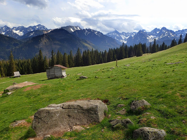 Rusinowa Polana i panorama na Wysokie