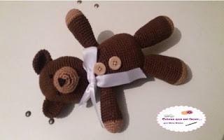 Ursinho de crochê foto Newborn