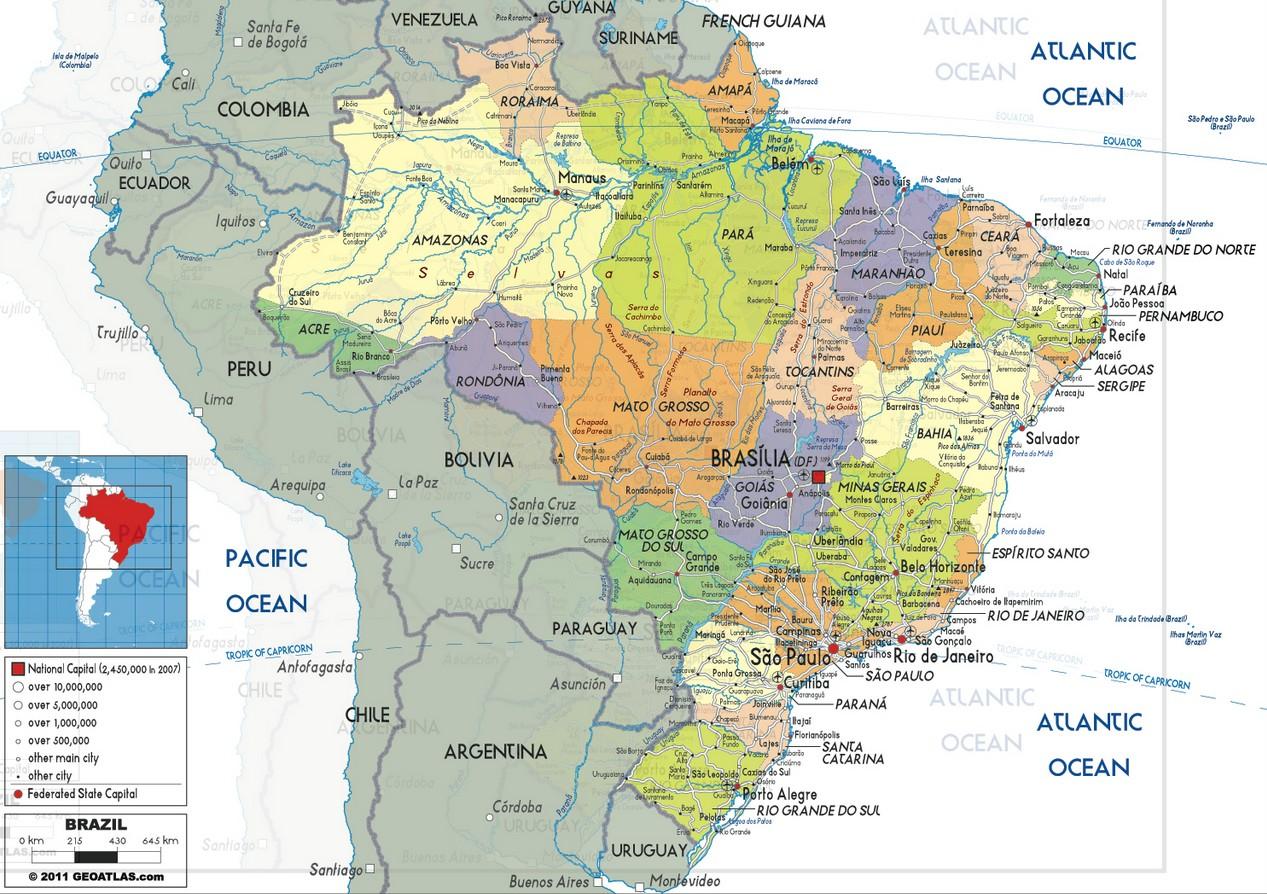 Brazil Map Brazil Physical Map World Maps