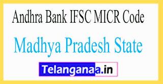 Andhra Bank IFSC MICR Code Madhya Pradesh State