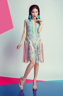 Diễm my 9x quyến rũ gợi cảm với loạt váy ren trong suốt tinh t8ế