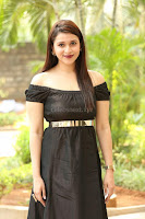 Mannara Chopra in Short Off Shoulder Black Dress ~  Exclusive 072.JPG