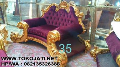 Sofa Tamu Klasik warna emas design mebel interior klasik ukiran jati jepara,MEBEL INTERIOR KLASIK MEBEL FURNITURE SOFA KLASIK EROPA MEWAH ASLI JEPARA SOFA UKIRAN SOFA JATI JEPARA SOFA CAT DUCO FRENCH STYLE DESIGN TERBARU JEPARA