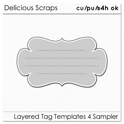 Tag Template delicious scraps new cu layered tag templates and – Large Label Template