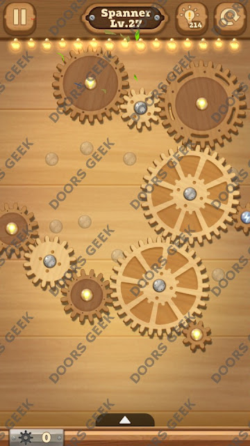 Fix it: Gear Puzzle [Spanner] Level 27 Solution, Cheats, Walkthrough for Android, iPhone, iPad and iPod